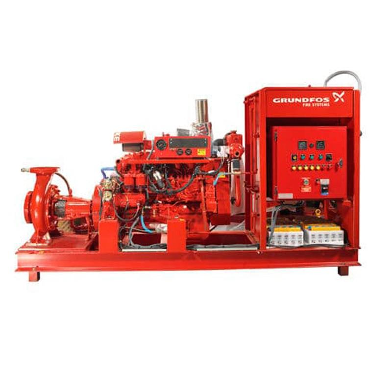 Grundfos-FIRE NKF DIESEL: Помпени инсталации, използвани при противопожарни приложения за подаване на вода към вътрешни противопожарни кранове...