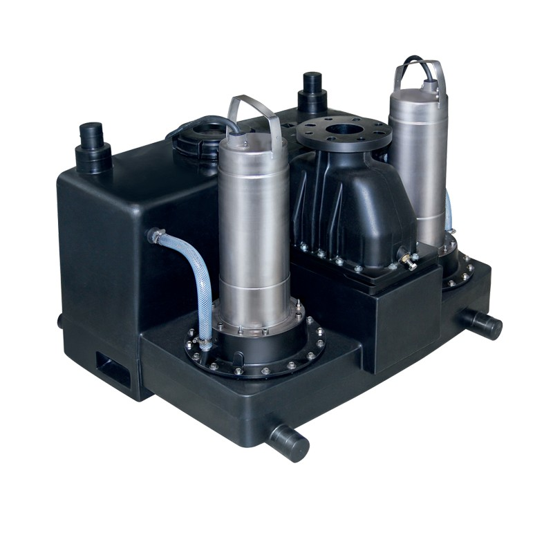 Wilo-DrainLift L: помпена система за отпадни води с 1 или 2 вградени помпи